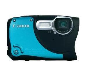 vattentät kamera från canon - blå